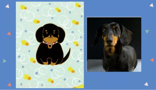 【Client works】ペットの似顔絵・肖像画 / 犬・ダックスフンド
