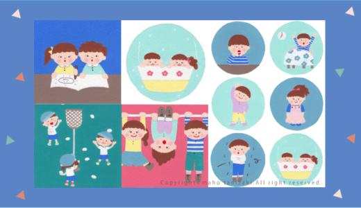 【Personal works】アクリル画タッチ・子どものイメージ・Children illustrations(こども・イラスト)