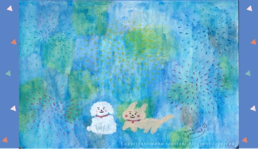 "【Personal works】夏/イラスト/「HANABI」(Summer/illustration/""FIREWORKS"")"